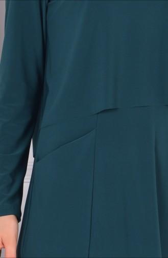 Robe Hijab Vert emeraude 1808-07