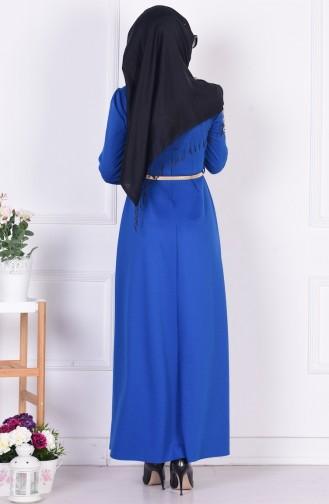 Saxon blue İslamitische Jurk 52515-03