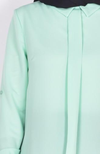 Bluse aus Kreppstoff 4063-09 Minzengrün 4063-09
