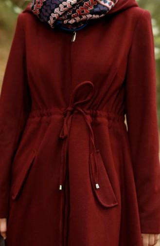 Mantel mit Kapuzen 35709B-01 Weinrot 35709B-01