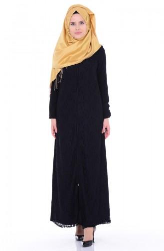 Black Abaya 7284-01