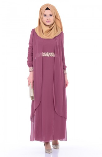 Dusty Rose İslamitische Jurk 52221-17