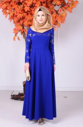 Saxon blue İslamitische Jurk 1032-02
