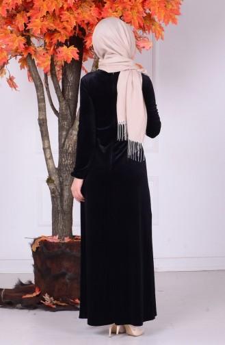 Black İslamitische Jurk 0681-04
