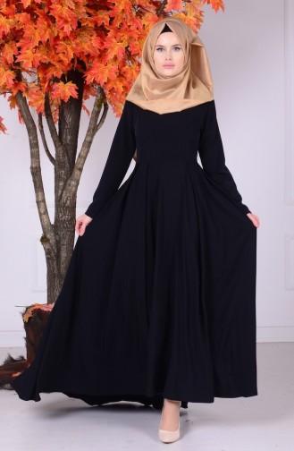 Black İslamitische Jurk 4074-04