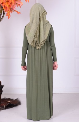 Khaki Young Hijab Dress 0780-02