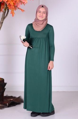 Emerald Young Hijab Dress 0780-04