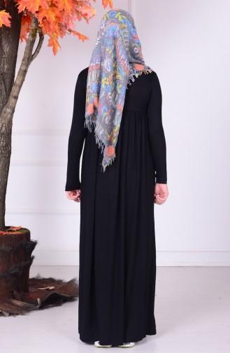 Black Young Hijab Dress 0780-05