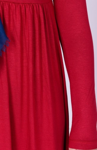 Red Young Hijab Dress 0780-07