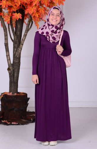 Purple Young Hijab Dress 0780-08