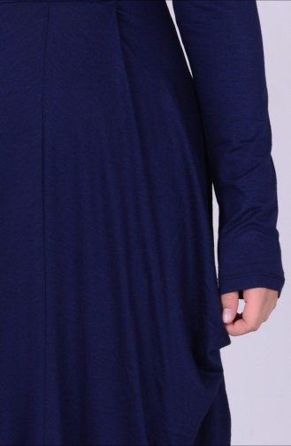 Navy Blue Young Hijab Dress 0790-01