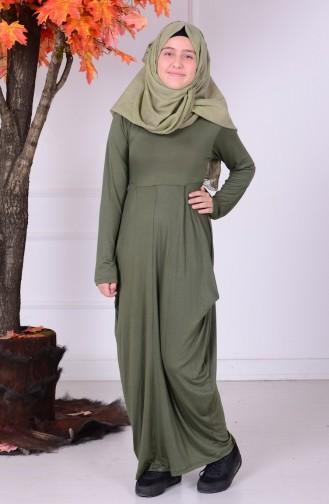 Khaki Young Hijab Dress 0790-05