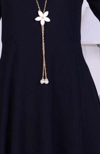 Robe avec Collier 1075-01 Noir 1075-01