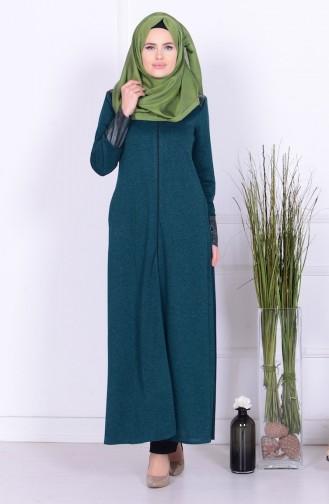 Green Abaya 0416K-02