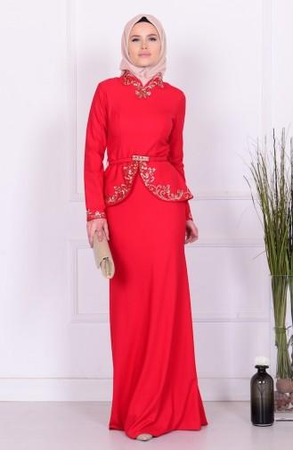 Sefamerve Abiye Elbiseler PDY 5703-01 Kırmızı