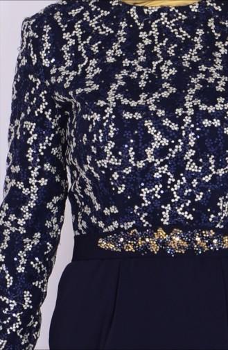 Robe de Soirée  6618-01 Bleu Marine 6618-01