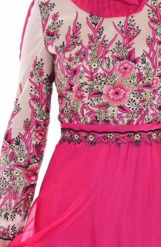 فستان للمناسبات لون فوشي    6277-02
