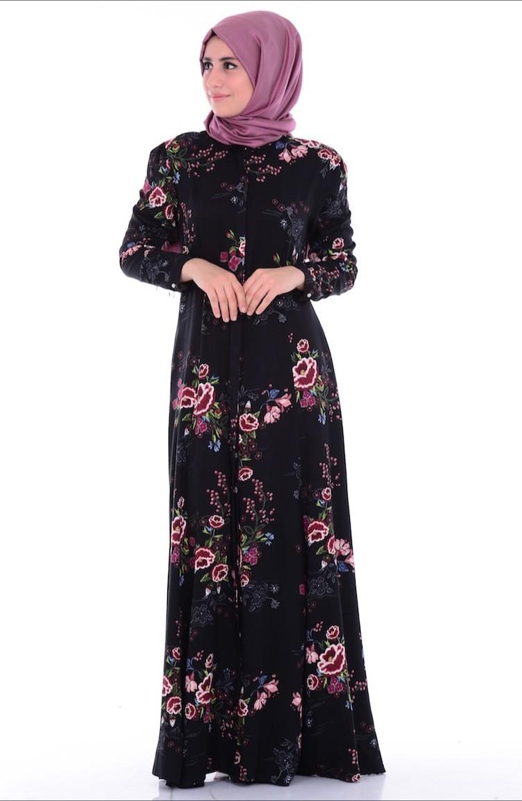 Düz-örgülü-düğmeli-elbise