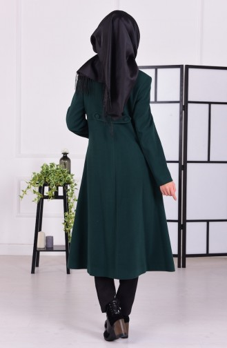 Fleece Mantel 0678-02 Smaragdgrün 0678-02