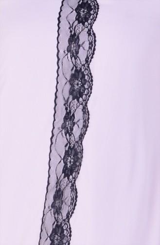 Spitzen Tunika mit Kreppstoff  6016-02 Puder 6016-02
