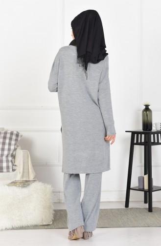 iLMEK Knitwear Pants Double Suit 3832-02 Gray 3832-02
