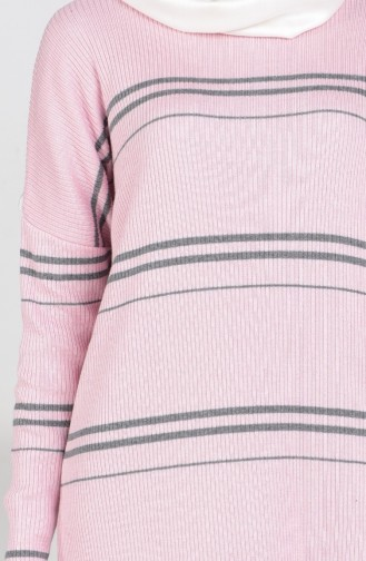 Pull Tricot a Rayure 3850-04 Poudre 3850-04