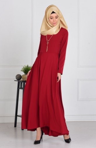 Robe Asymétrique 4055-14 Bordeaux 4055-14