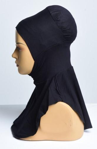 Hijab Nachtlose Bonnet 07 Schwarz 07