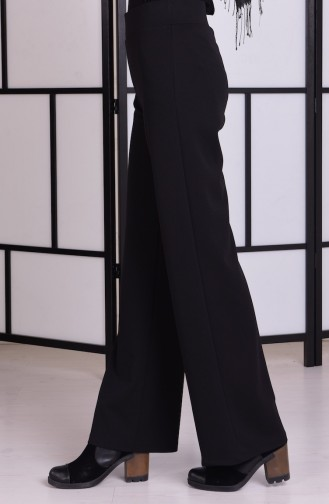 Beli Lastikli Pantolon 4011-01 Siyah Sefamerve