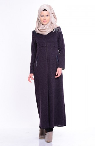Dark Purple Abaya 0488-01