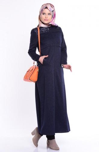Navy Blue Abaya 0488-04