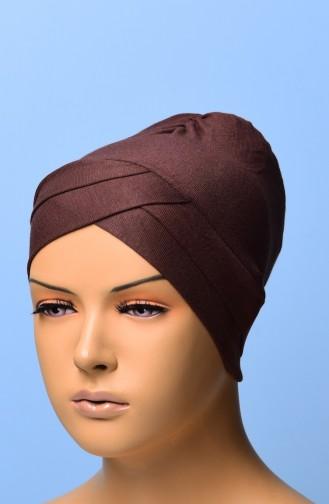 Bonnet Croisé 02 Brun 02