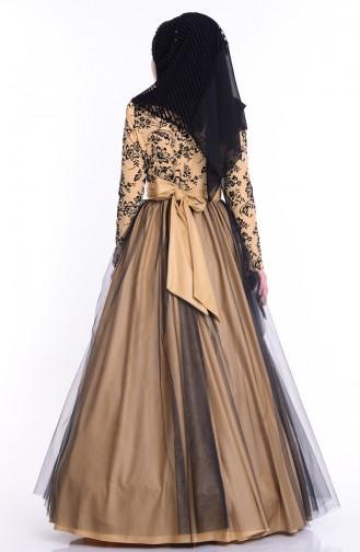 Schwarz Hijab-Abendkleider 1087-02