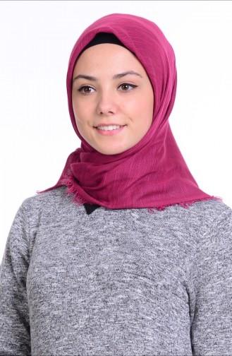 Sökme Pamuk Eşarp 50056-10 Koyu Fuşya
