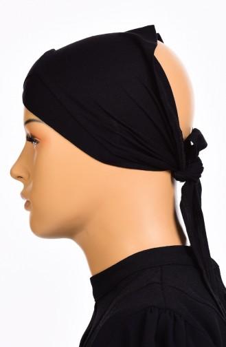 Bonnet Bande Croisé 01 Noir 01