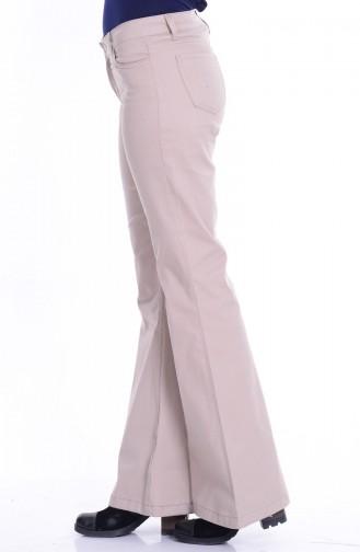 MIHRISAH Spanish Leg Trousers 2328-04 Stone 2328-04