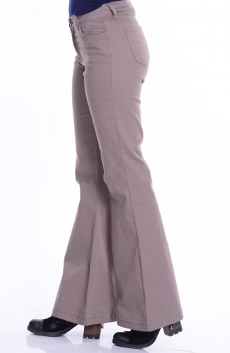 MIHRISAH Spanish Leg Trousers 2328-07 Mink 2328-07