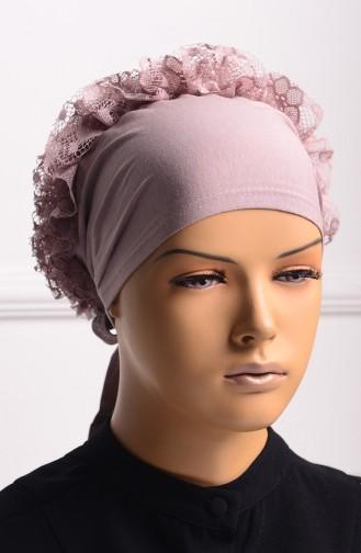 Bonnet a Dentelle et Froufrous 03 Vison 03