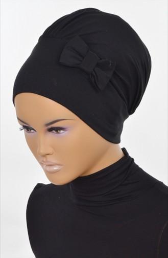 Bonnet aus Gekämmte Baumwoll -Schwarz B0005-6 0005-06