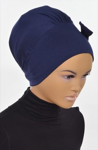 Bonnet aus Gekämmte Baumwoll -Dunkelblau B0005-1 0005-1