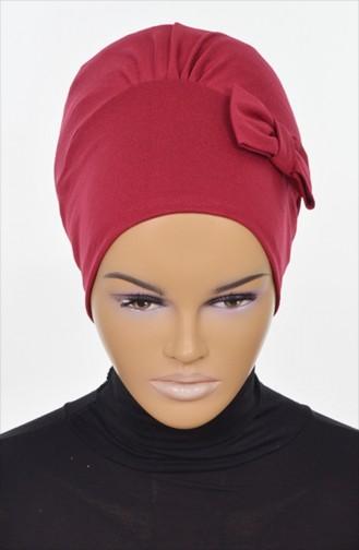 Bonnet aus Gekämmte Baumwoll -Weinrot B0005-3 0005-3