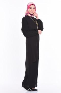 Tunik Pantolon İkili Takım 5117-01 Siyah Sefamerve