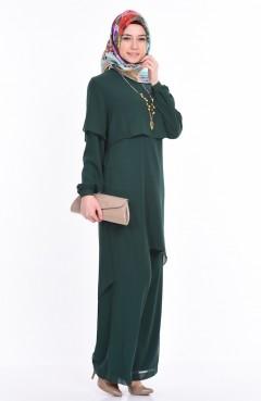 Tunik Pantolon İkili Takım 5117-06 Yeşil Sefamerve