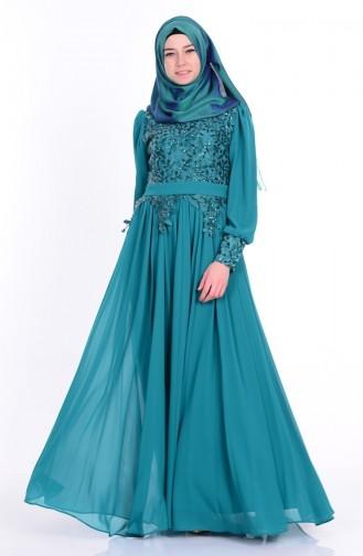 Emerald İslamitische Avondjurk 6877-01