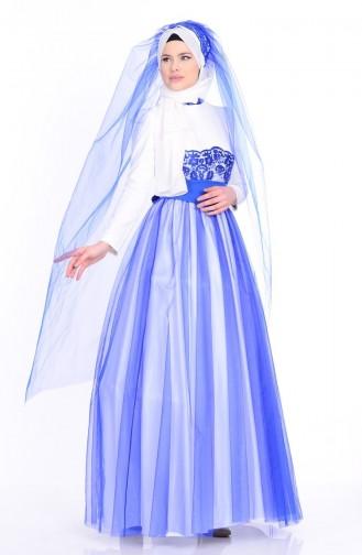 Habillé Hijab Ecru 1092-02