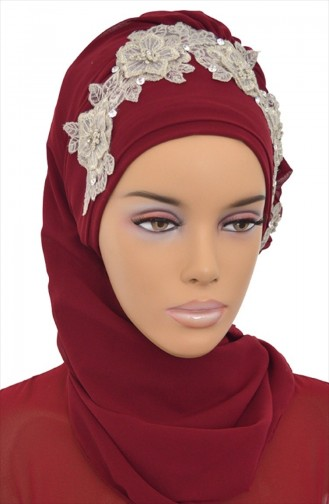 Claret red Ready to wear Turban 0006-7