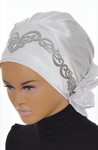 White Ready to wear Turban 58-B