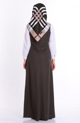 فستان كاكي 2115-06