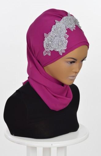 Fuchsia Ready to wear Turban 0006-1