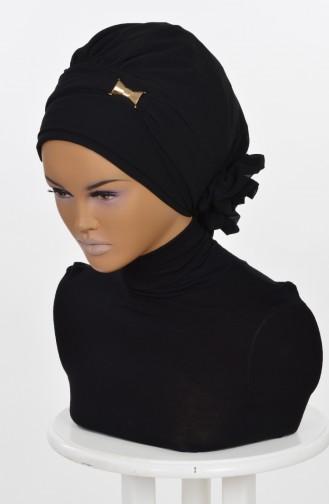 Black Ready to wear Turban 0007-14